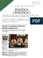 01-02-17 Osorio y senadores discuten politica migratoria