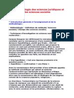 La Méthodologie Des Sciences Juridiques Et Des Sciences Sociales Agadir