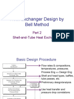 Bell Method to Design Exchanger