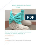 Crochet Bow Cuff Slipper Boots – Toddler Sizes