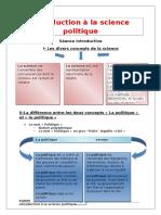 Introduction La Science Politique