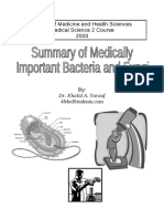 Summary of Medically Important Bacteria and Fungi