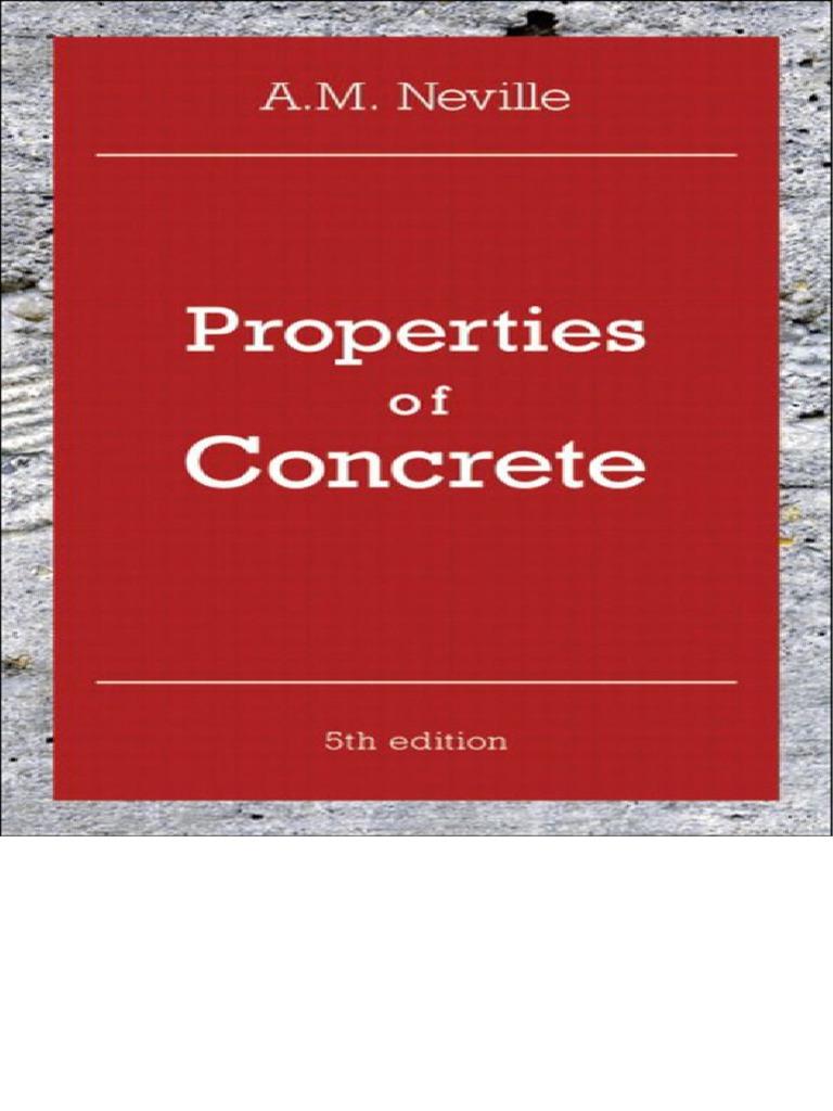 Properties of concrete 5th ed. - Neville.pdf - Concrete - Mortar (Masonry) - 웹