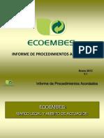 Informe de Procedimientos de Cursos Auditores