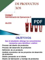 Diseã'o de Productos y Servicios 2016