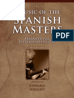 Music of the Spanish Masters Arranged for Intermediate Guitar (Samples )