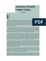 Las Relaciones Estados Unidos China