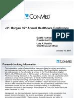 2017 ConMed $CNMD JPM Presentation