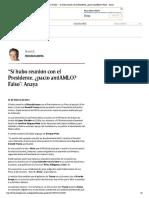 """01-02-17 Francisco Garfias """"Sí hubo reunion con el Presidente, pacto anti AMLO Falso"""