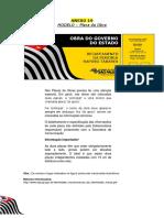 Modelo Placa de Obra Estado de São Paulo