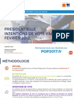 Intentions de Vote - Vague 9 - POP2017 - 4 Février 2017
