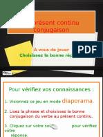 Le Présent Continu Conjugaison Au Jeu ! (1)