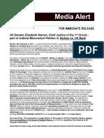 US Senator Elizabeth Warren, Chief Justice of the 1st Circuit - part of Judicial Misconduct Petition in Harihar vs. US Bank