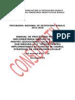Manual de Procedura SM 19.2 Versiunea Consultativa