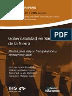 SINPA 07 Andia L (2002) Gobernabilidad en Santa Cruz de La Sierra - Pautas Para Mayor Transparenc