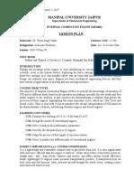 I.C. Engine (Lesson Plan)