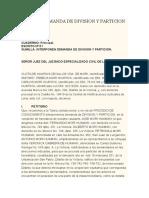 Demanda de Division y Particion Modelo