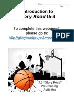 glory road webquest intro project