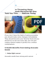 Avocado Seeds Benefits
