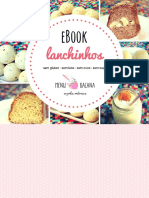 Menu Bacana eBook Lanchinhos