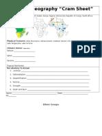 africa geography cram