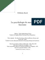 Reich Wilhelm - La Psychologie de Masse Du Fascisme