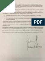 El documento de Arribas
