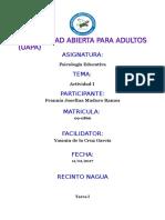 Actividad i Psicologia Educativa Frannia Maduro