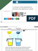 Bicarbonato Limone Ricetta Longevita