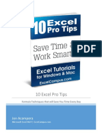 10 Excel Pro Tips eBook - Jon Acampora.pdf