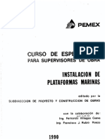Curso Para Supervisores - Instalación de Plataformas Marinas 1990