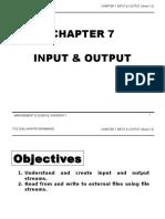 TCS2044 Chapter7 Input & Output Week13