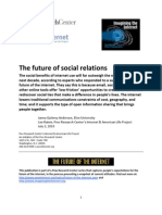 PIP Future of Internet 2010 Social Relations