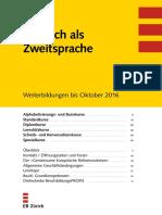 Weiterbildung Deutsch Als Zweitsprache