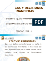 Políticas y Decisiones Financieras