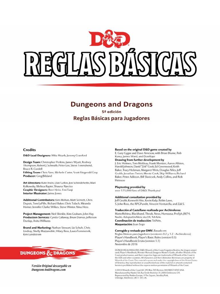 DnD 5 Reglas básicas Jugador (DMV).pdf