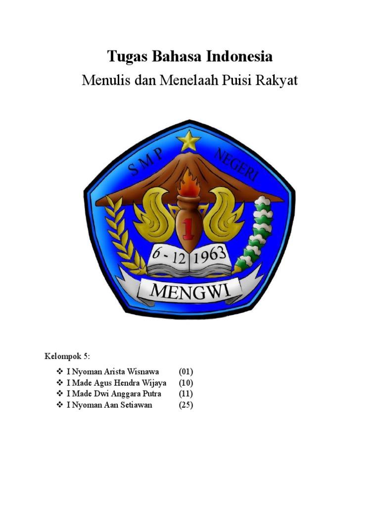 Contoh Pantun Puisi Dan Gurindam Bahasa Indonesia
