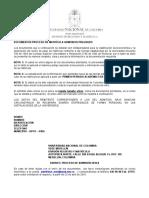 Listado Documentos Admitidos Pregrado
