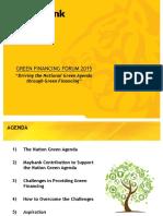 Driving the National Green Agenda Through Green Financing Henry Goh Jiok Vui(1)