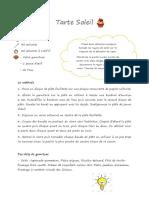 tarte soleil document recette