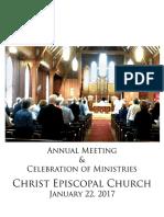 Christ Church Annual Meeting 2017