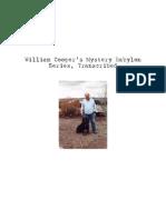 William (Bill) Cooper - Mystery Babylon Series, Transcribed