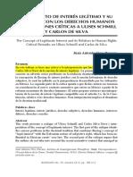 Interés Legítimo. Juan Antonio Cruz Parcero