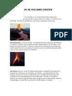 Cuantos Tipos de Volcanes Existen