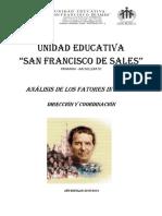 Analisis de Los Factores Internos - Dirección, Coordinación y Evaluación