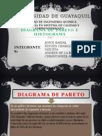 Diagrama de Pareto e Histograma Grupo 3