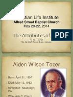 CLI Attributes of God 2014
