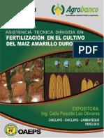 Fertilización en El Cultivo Del Maiz