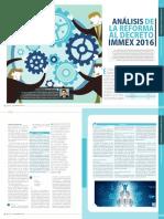 Reforma IMMEX 2016