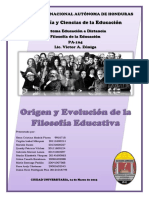 Origen y Evolucion de La Filosofia Educativa-trabajo